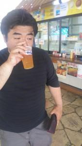 沖縄はやっぱり オリオンビール! 朝からぐびぐび。