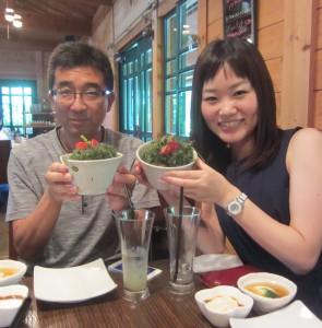 海ぶどうが好き組♥ fuuCafeの海ぶどう丼最高でした!